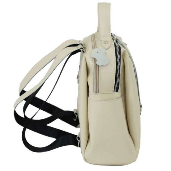 Жіноча рюкзак з натуральної шкіри LUCHERINO 660 бежевий