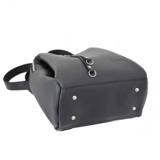 Женская рюкзак из натуральной кожи LUCHERINO 660 черный