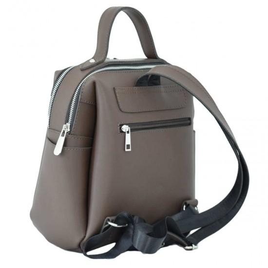 Женская рюкзак из натуральной кожи LUCHERINO 660 шоколадный