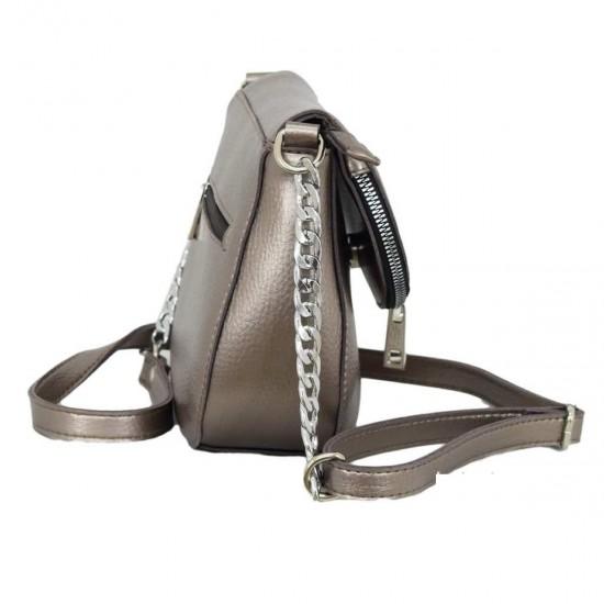 Жіноча модельна сумочка LUCHERINO 626 бронзовий