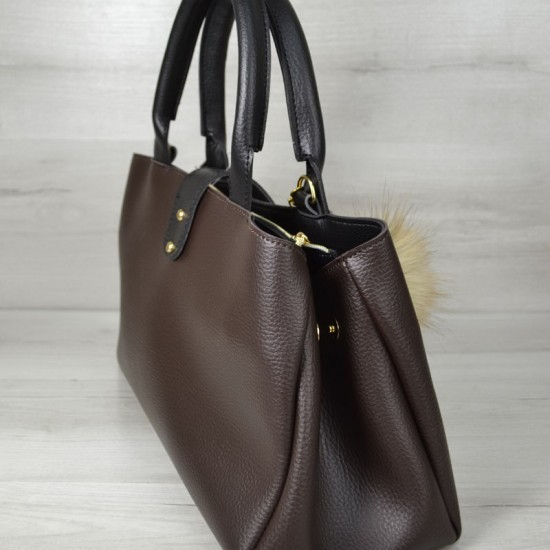 Женская модельная сумка WELASSIE Альба коричневый