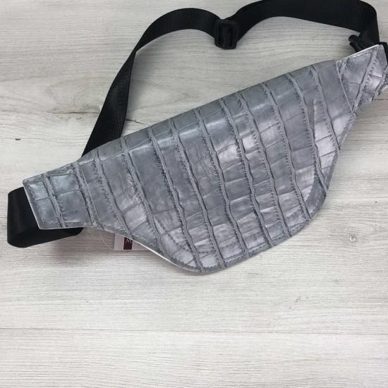 Жіноча сумочка на пояс WELASSIE Емма сіро-блакитний