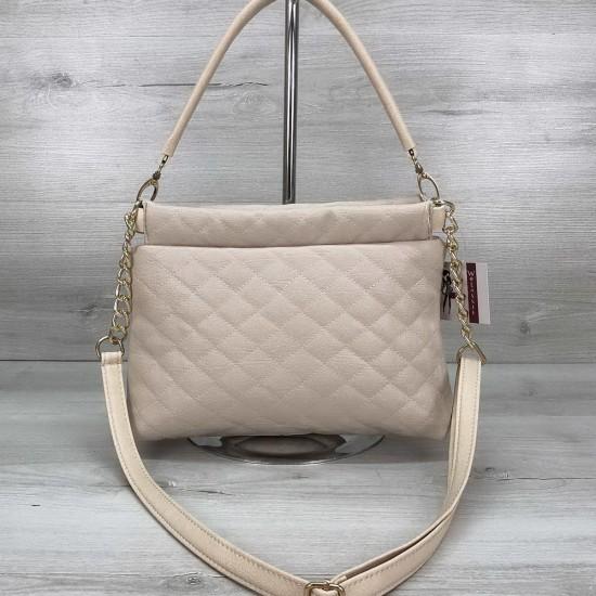 Женская сумочка клатч WELASSIE Ava бежевый