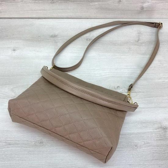 Жіноча сумочка клатч WELASSIE Ava кавовий