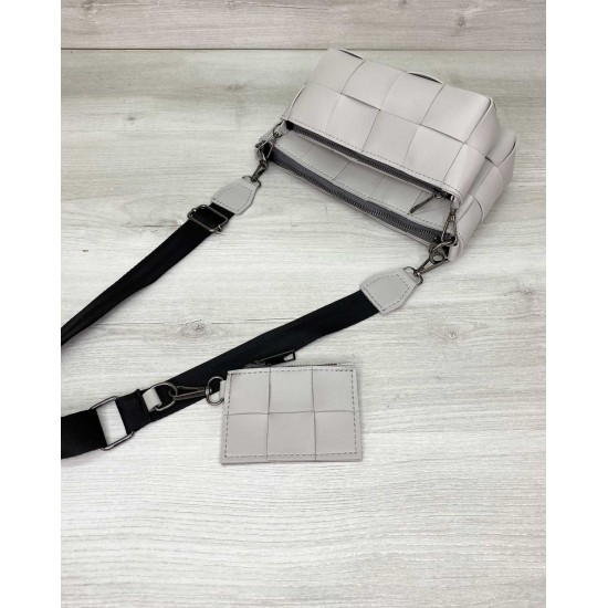 Жіноча сумочка комплект 3 в 1 WELASSIE Саллі сірий