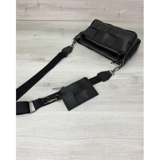 Жіноча сумочка комплект 3 в 1 WELASSIE Саллі чорний
