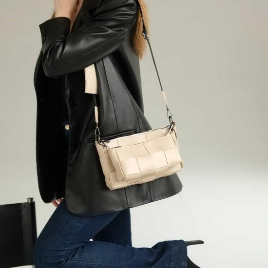 Женская сумочка комплект 3 в 1 WELASSIE Салли бежевый