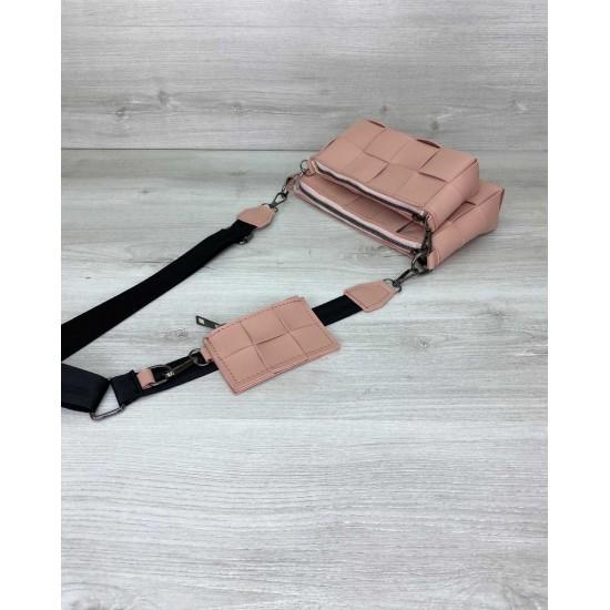 Женская сумочка комплект 3 в 1 WELASSIE Салли пудра