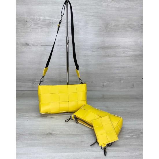 Женская сумочка комплект 3 в 1 WELASSIE Салли желтый