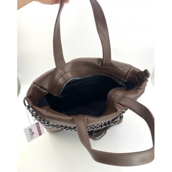 Женская модельная сумка WELASSIE Дэйна кофейный