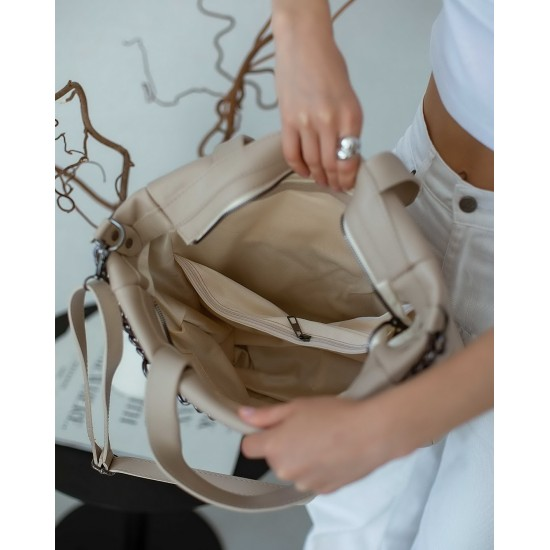 Жіноча модельна сумка WELASSIE Дейна бежевий