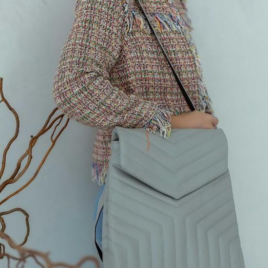 Жіноча модельна сумка-рюкзак WELASSIE Луки сірий