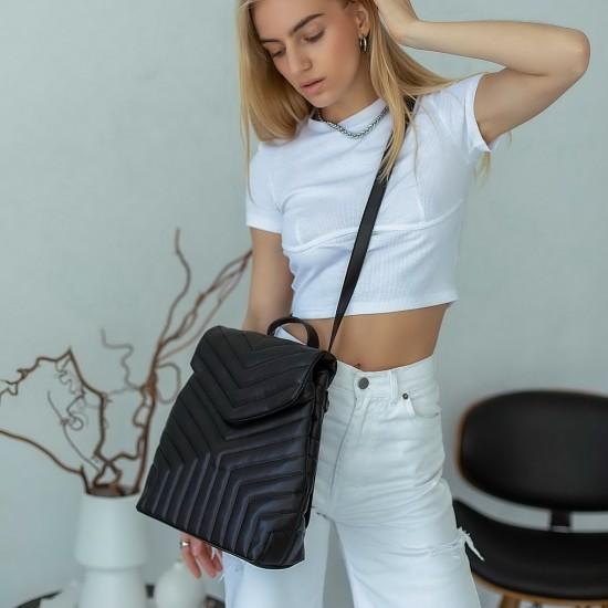 Женская модельная сумка-рюкзак WELASSIE Луки черный