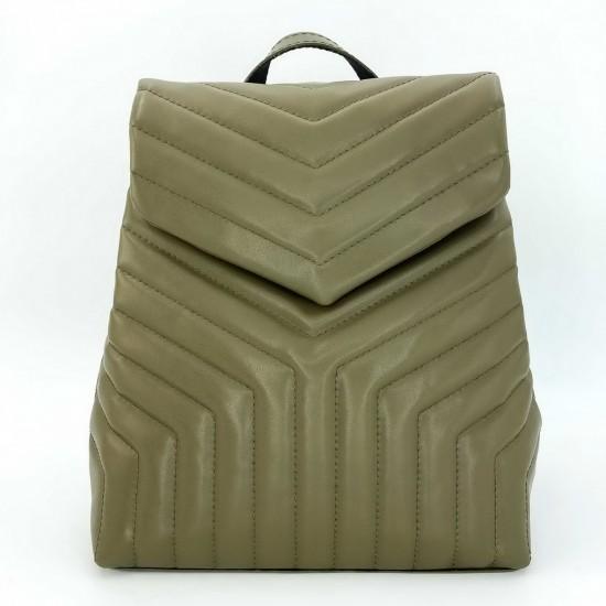 Женская модельная сумка-рюкзак WELASSIE Луки оливковый