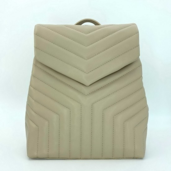 Жіноча модельна сумка-рюкзак WELASSIE Луки бежевий