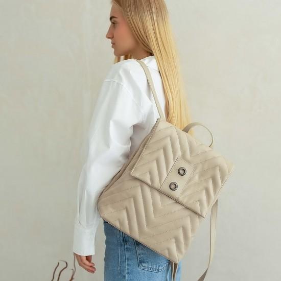 Женская модельная сумка-рюкзак WELASSIE Луки бежевый