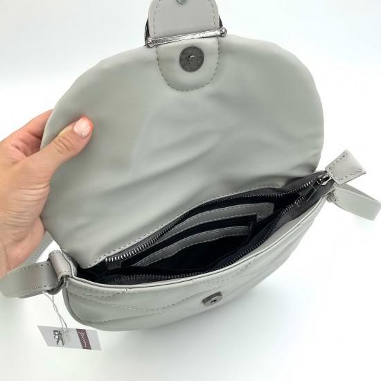 Жіноча сумочка через плече WELASSIE Джаст сірий