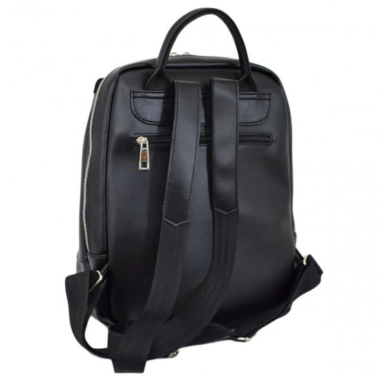 Жіноча рюкзак з натуральної замші LUCHERINO 606 чорний