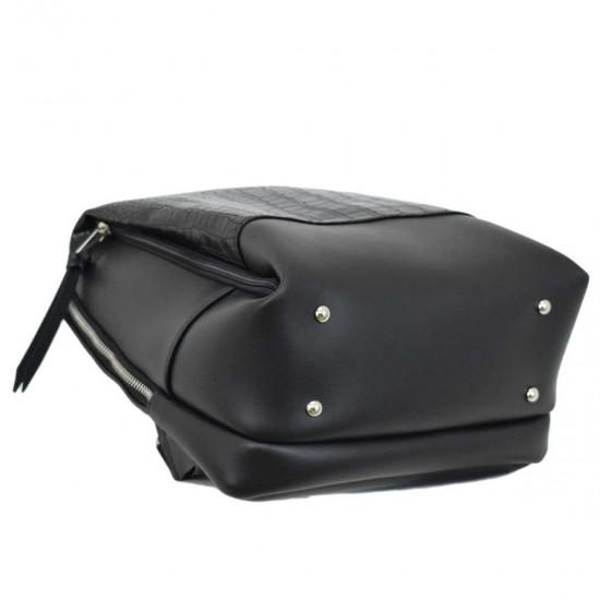Жіноча рюкзак LUCHERINO 606 чорний крокодил