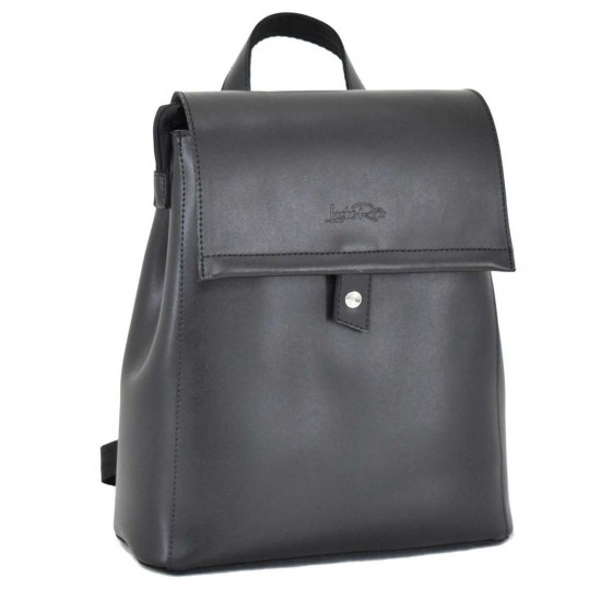 Женская рюкзак из натуральной кожи LUCHERINO 608 черный