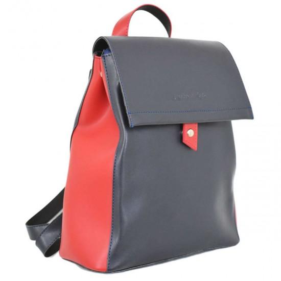 Женская рюкзак LUCHERINO 608 темно-синий + красный
