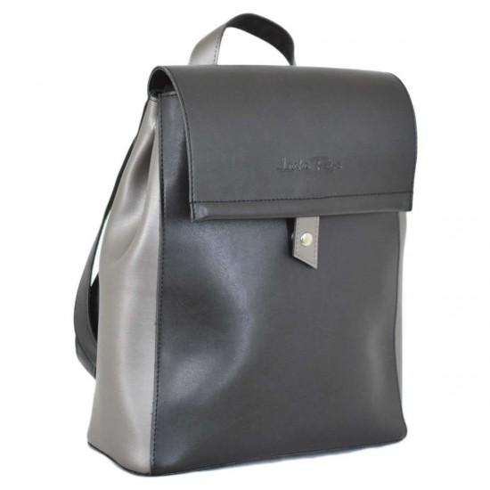 Женская рюкзак LUCHERINO 608 черный + серебро