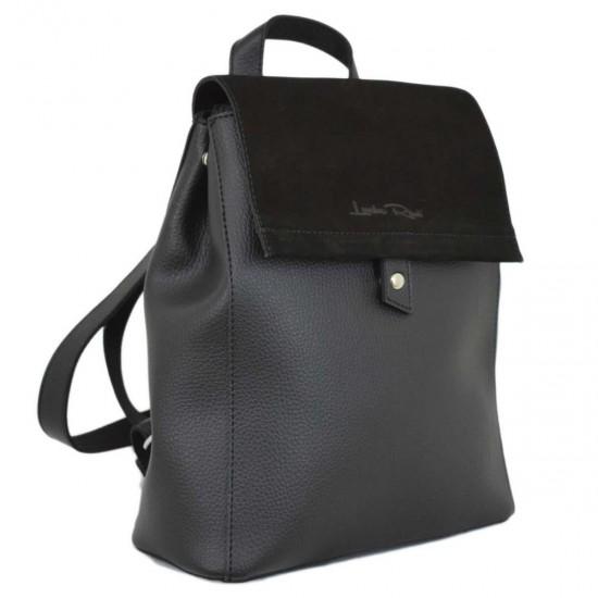 Жіноча рюкзак LUCHERINO 608 чорний замш