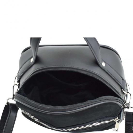 Женская сумочка из натурального замша LUCHERINO 672 черный