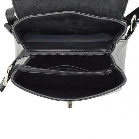 Жіноча рюкзак з натуральної замші LUCHERINO 646 чорний