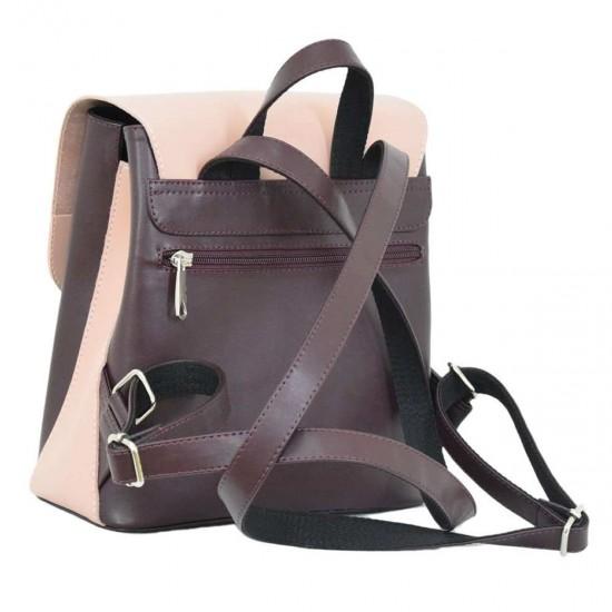 Жіноча рюкзак LUCHERINO 646 бордовий + пудра