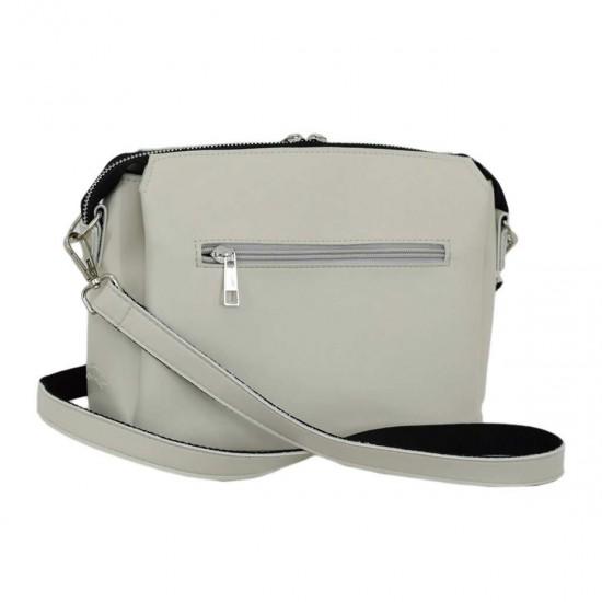 Жіноча сумочка на три відділення LUCHERINO 676 айворі