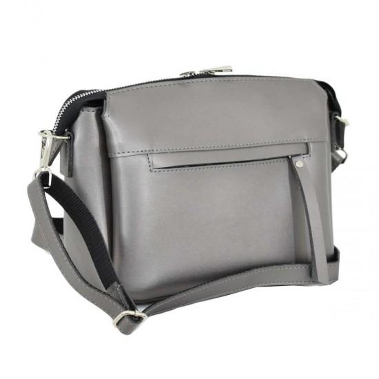 Женская сумочка  на три отделения LUCHERINO 676 серебро
