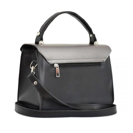 Женская сумочка LUCHERINO 572 черная + серебро