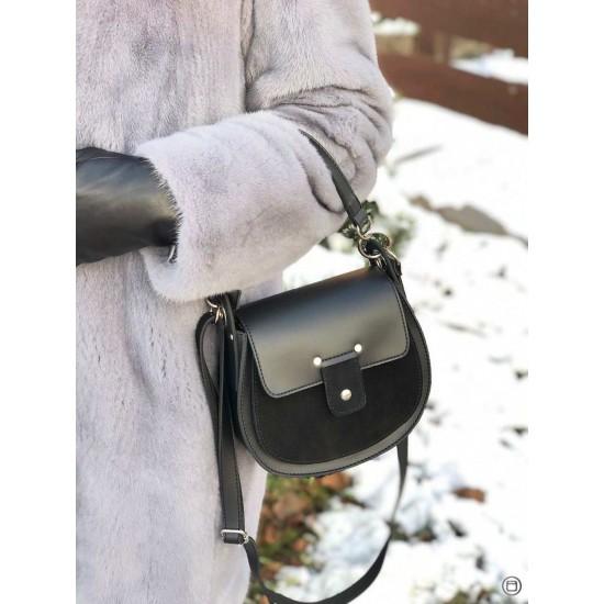 Женская сумочка из натурального замша LUCHERINO 662 черный