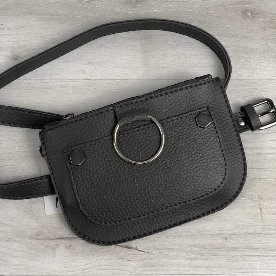 Женская сумочка на пояс WELASSIE Кэти серый