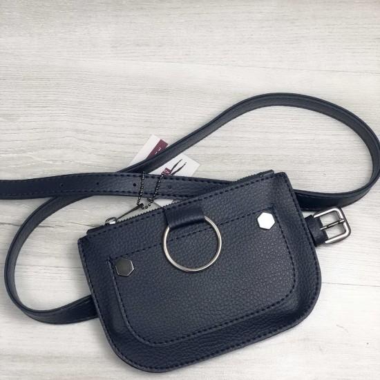 Женская сумочка на пояс WELASSIE Кэти темно-синий