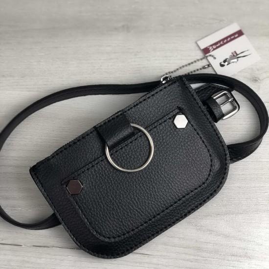 Жіноча сумочка на пояс WELASSIE Кеті чорний