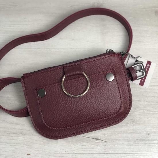 Женская сумочка на пояс WELASSIE Кэти бордовый