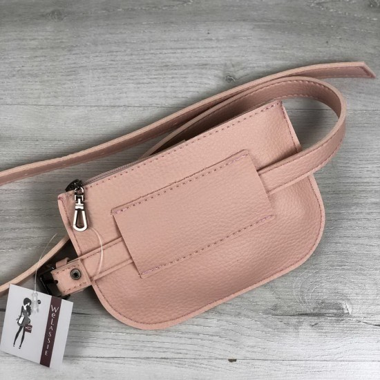 Жіноча сумочка на пояс WELASSIE Кеті пудра