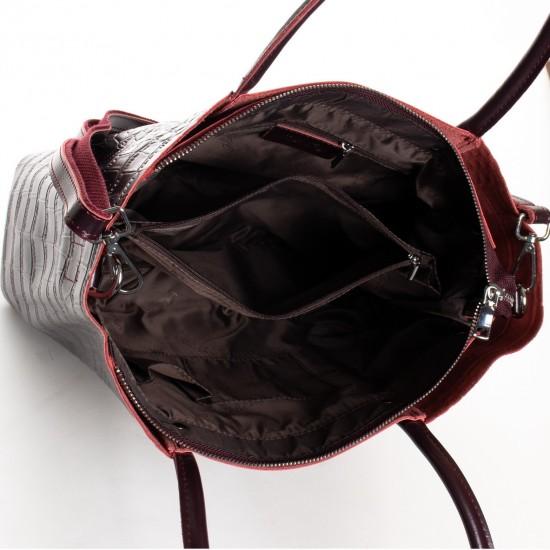 Женская сумка из натуральной кожи ALEX RAI 13-9710 бордовый