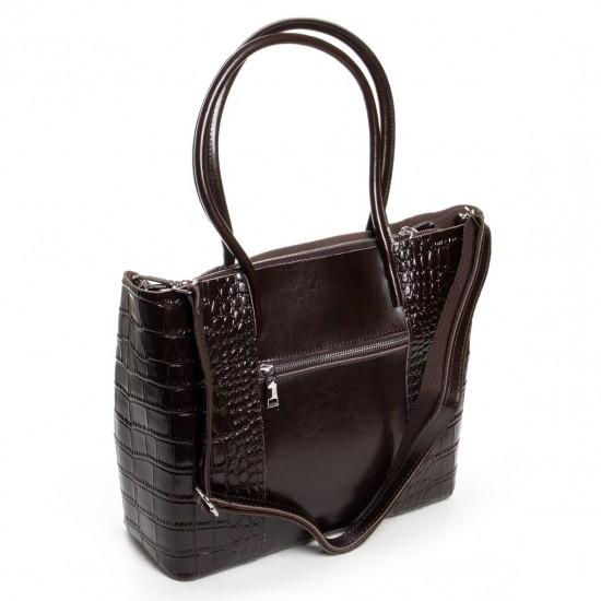 Женская сумка из натуральной кожи ALEX RAI 13-9710 коричневый