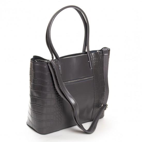 Жіноча сумка з натуральної шкіри ALEX RAI 13-9710 сірий