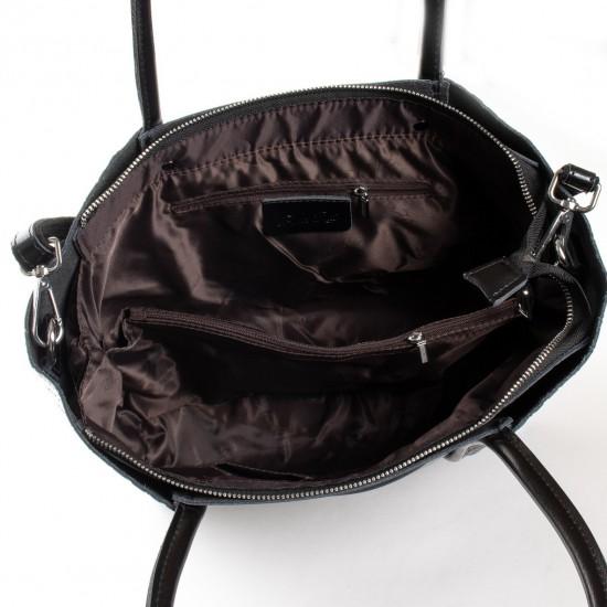 Жіноча сумка з натуральної шкіри ALEX RAI 13-9710 чорний