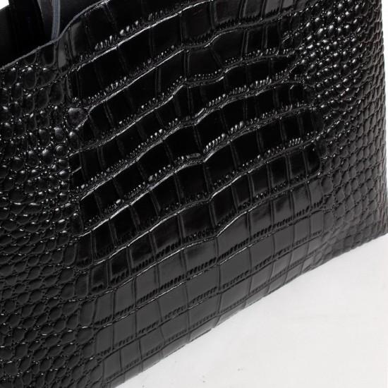 Жіноча сумка з натуральної шкіри ALEX RAI 13-9506 чорний