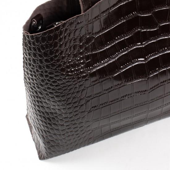 Жіноча сумка з натуральної шкіри ALEX RAI 13-9506 коричневий