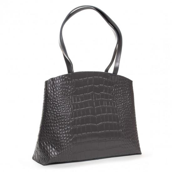 Женская сумка из натуральной кожи ALEX RAI 13-9506 серый