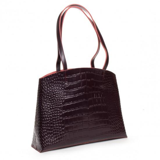 Женская сумка из натуральной кожи ALEX RAI 13-9506 бордовый