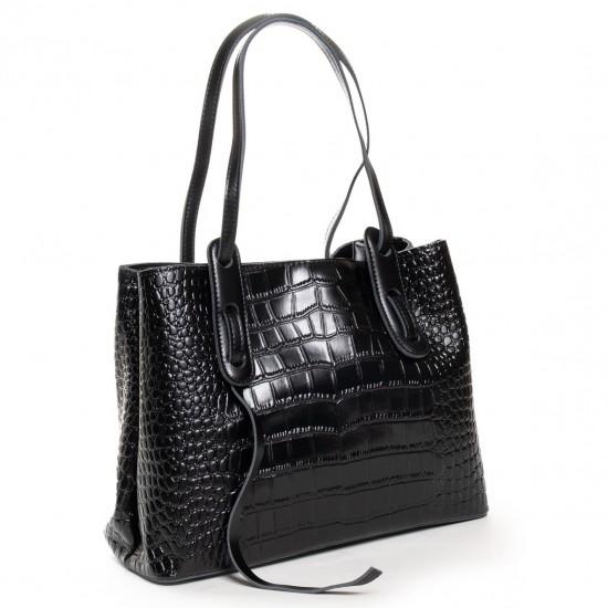 Жіноча сумка з натуральної шкіри ALEX RAI 16-3204 чорний