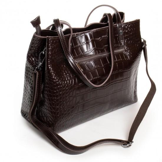 Женская сумка из натуральной кожи ALEX RAI 16-3204 коричневый
