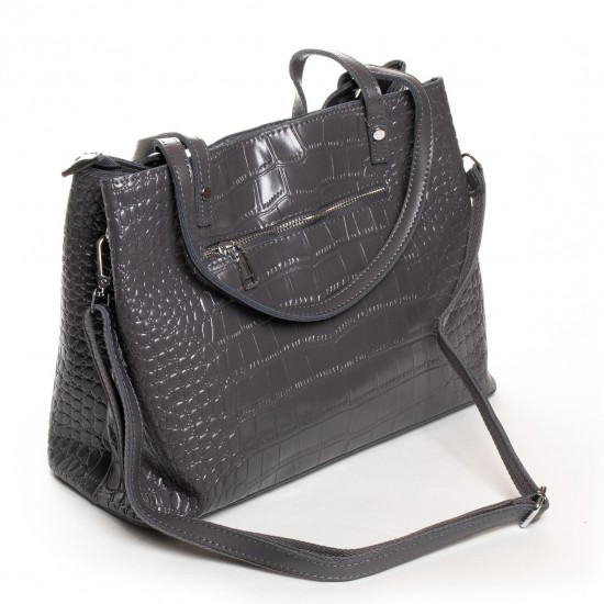 Женская сумка из натуральной кожи ALEX RAI 16-3204 серый